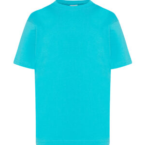 Camiseta infantil turquesa
